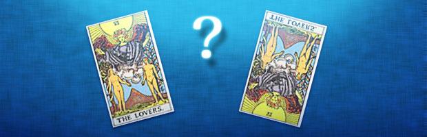 タロットカードは正位置と逆位置があり、それにより読み解き方も変わる。